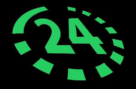 Nonstoppflege Logo grün 24 stunden pflege